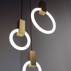 Halo c3 round mixed matthew mccormick suspension pendant light  studio matthew mccormick h c3rd m brb  design signed 53244 thumb