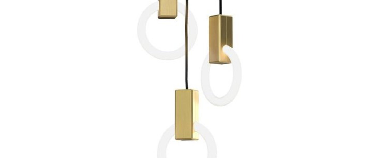 Suspension halo c3 round standard blanc et laiton o10cm hcm studio matthew mccormick normal