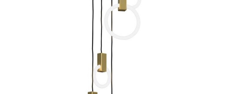 Suspension halo c5 round mixed blanc et laiton o10cm hcm studio matthew mccormick normal