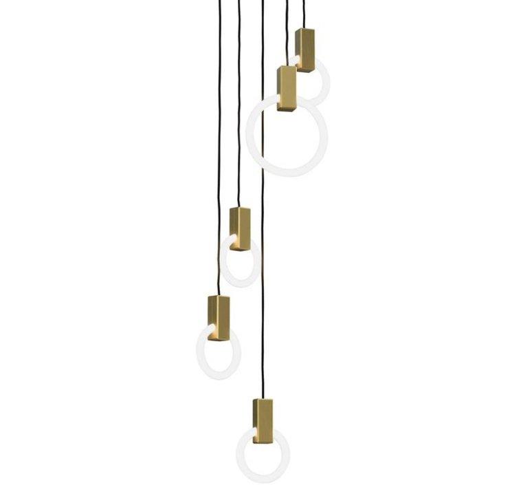 Halo c5 round mixed matthew mccormick suspension pendant light  studio matthew mccormick h c5rd m brb  design signed 53253 product