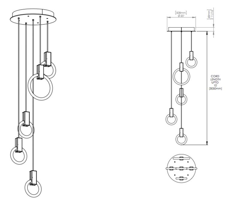 Halo c5 round mixed matthew mccormick suspension pendant light  studio matthew mccormick h c5rd m brb  design signed 53254 product