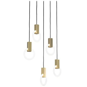 Suspension halo c5 round standard blanc et laiton o10cm hcm studio matthew mccormick normal