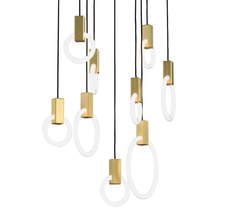 Halo c9 round mixed matthew mccormick suspension pendant light  studio matthew mccormick h c9rd m brb  design signed 53271 product