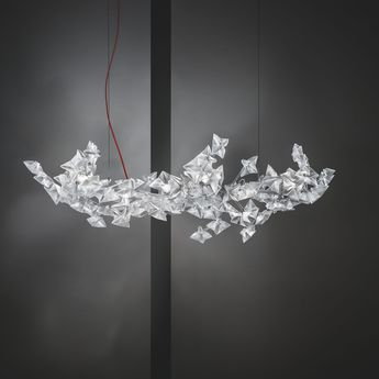 Suspension hanami l gris led o96cm p26cm slamp han78sos0t03le000 normal