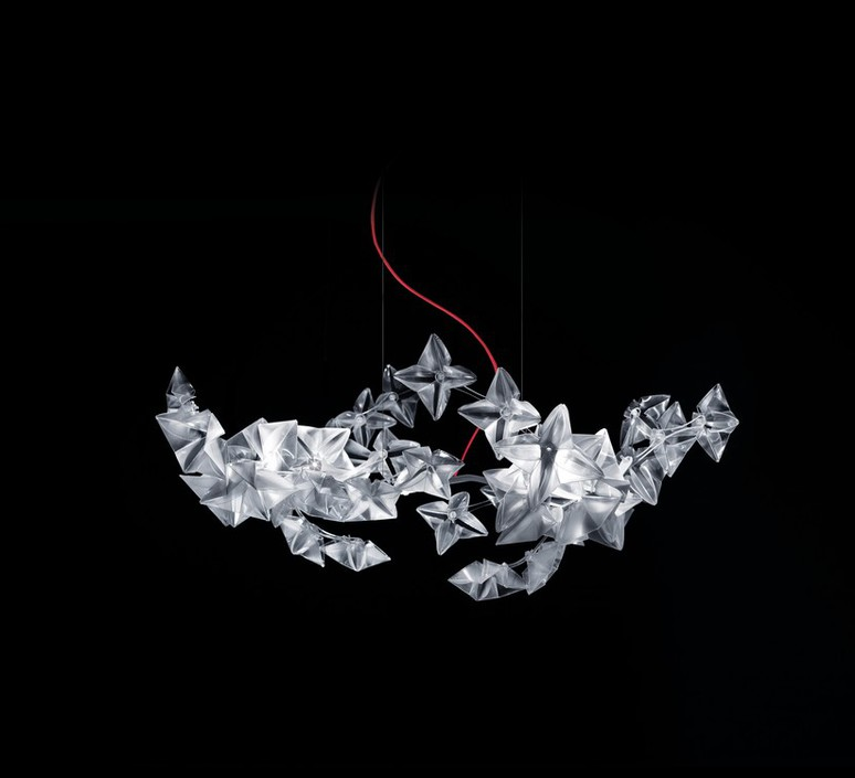 Hanami s adrianno rachele suspension pendant light  slamp pendantlight hanami s cable red  design signed 46004 product