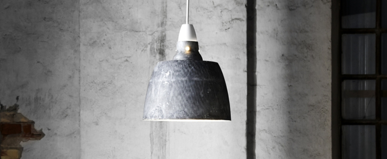 Suspension hang on honey oxidized aluminium gris h27 5cm o 24cm new works normal