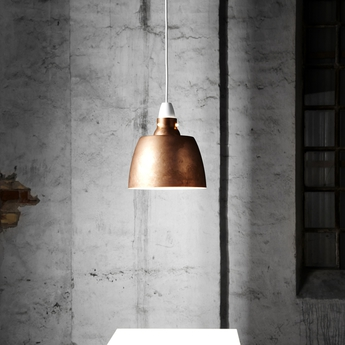 Suspension hang on honey raw copper cuivre h27 5cm o 24 cm new works normal