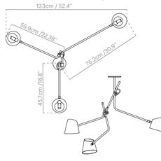 Hartau triple alexandre joncas gildas le bars suspension pendant light  d armes hatrwhox2  design signed nedgis 73826 thumb