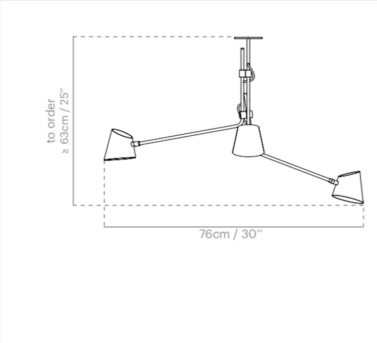 Hartau triple alexandre joncas gildas le bars suspension pendant light  d armes hatrwhox2  design signed nedgis 73828 product