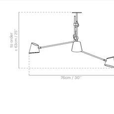 Hartau triple alexandre joncas gildas le bars suspension pendant light  d armes hatrwhox2  design signed nedgis 73828 thumb