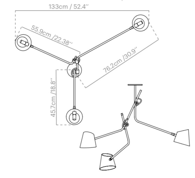 Hartau triple alexandre joncas gildas le bars suspension pendant light  d armes hatrwhox1  design signed nedgis 73831 product