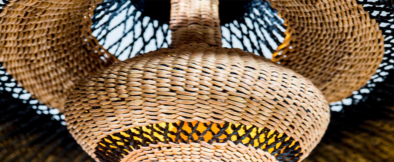 Suspension hatter 2tier bleu nuit o44cm h24cm golden editions normal