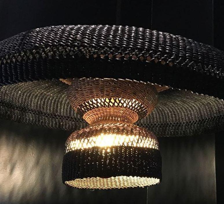 Hatter 2tier sara efia reddin suspension pendant light  golden editions hatter 2tier midnight  design signed nedgis 71117 product