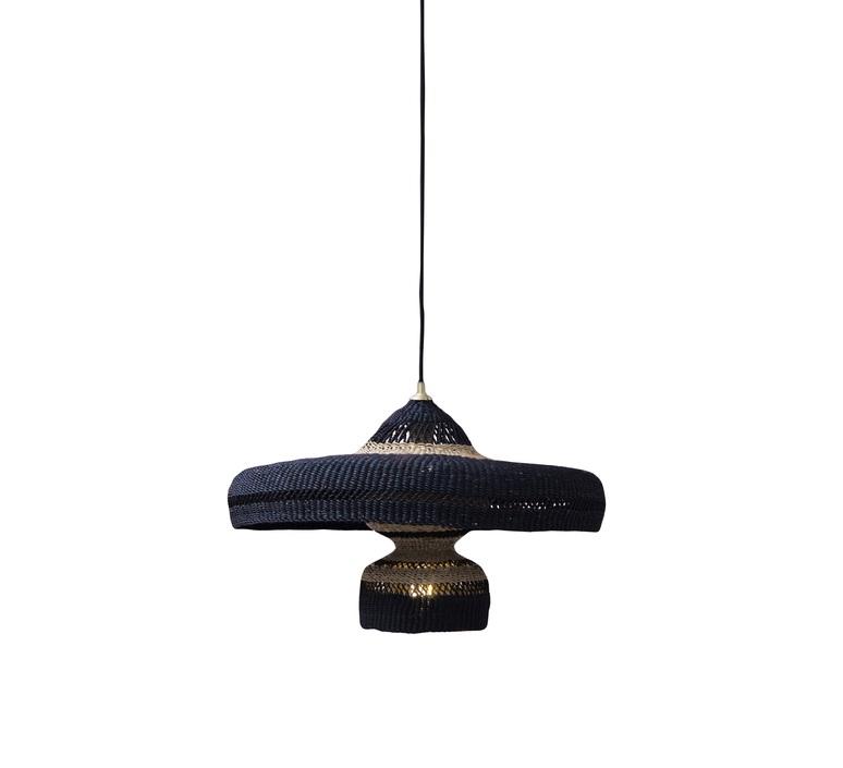 Hatter 2tier sara efia reddin suspension pendant light  golden editions hatter 2tier midnight  design signed nedgis 71121 product