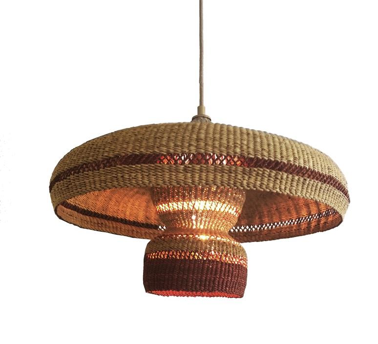 Hatter 2tier sara efia reddin suspension pendant light  golden editions hatter 2tier ginger  design signed nedgis 71123 product