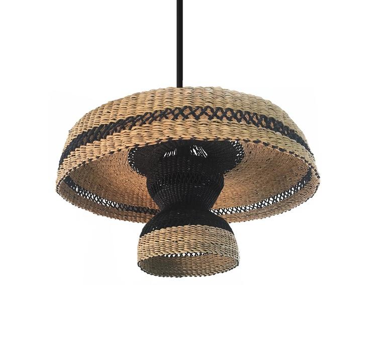 Hatter 2tier sara efia reddin suspension pendant light  golden editions hatter 2tier natural  design signed nedgis 71476 product