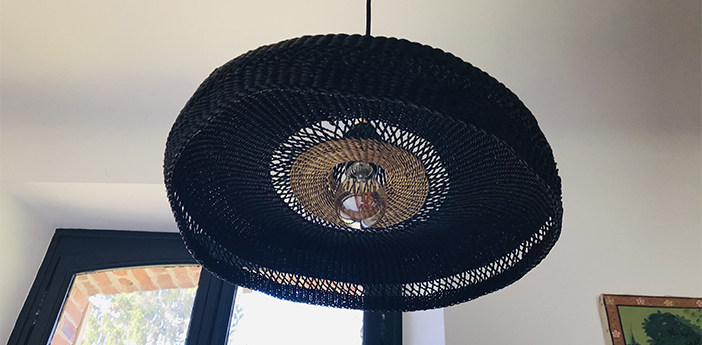 Suspension hatter bleu nuit l44cm h13 5cm golden editions normal