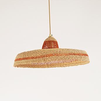 Suspension hatter gingembre l44cm h13 5cm golden editions normal
