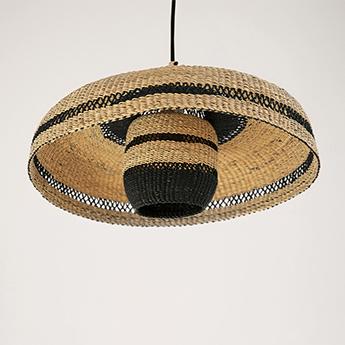 Suspension hatter lantern naturel minuit o44cm h23cm golden editions normal