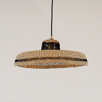 Suspension hatter naturel l44cm h13 5cm golden editions normal