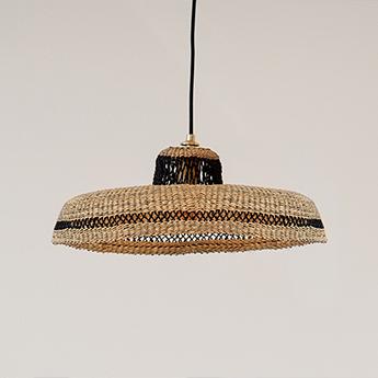 Suspension hatter naturel l44cm h13 5cm golden editions normal