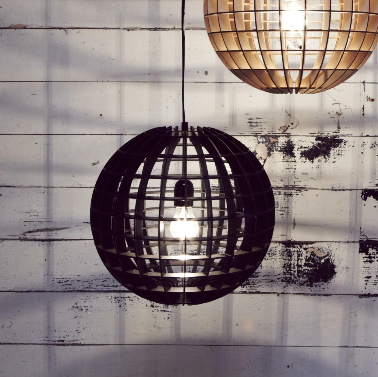 Suspension Hemmesphere Noir H30cm Massow Design