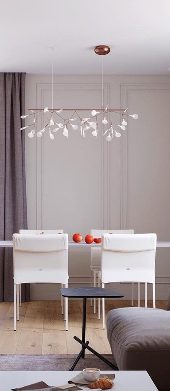 Suspension heracleum endless cuivre led 400lm l116cm h37cm moooi normal