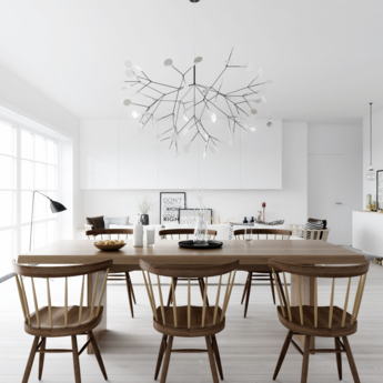 Suspension heracleum ii nickel led o98cm h65cm moooi normal