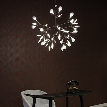 Suspension heracleum ii suspended small cuivre led 2700k 389lm o72cm h53cm moooi normal