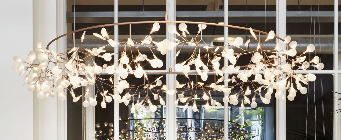 Suspension heracleum the big o cuivre led o210cm h23cm moooi normal