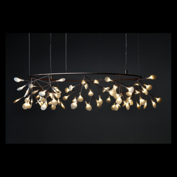 Suspension heracleum the small big o cuivre led o160cm h36cm moooi normal