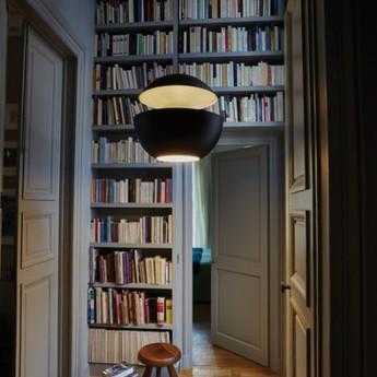 Suspension here comes the sun 450 noir et blanc o45cm p45cm dcw editions normal