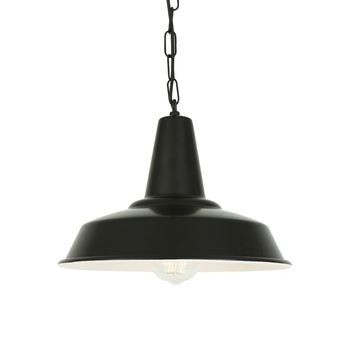 Suspension hex noir o30cm h23cm mullan lighting normal