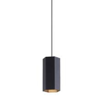 Suspension hexo 2 0 par16 noir o7 7cm h20cm wever et ducre normal
