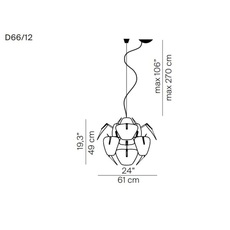 Hope d66 12 francisco gomez paz suspension pendant light  luceplan 1d6612s00000  design signed 55131 thumb