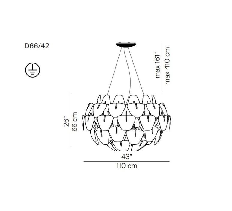 Hope d66 42 francisco gomez paz suspension pendant light  luceplan 1d6642s00000  design signed 55141 product