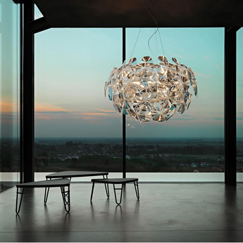 Suspension hope d66 42 transparent led o110cm h66cm luceplan normal