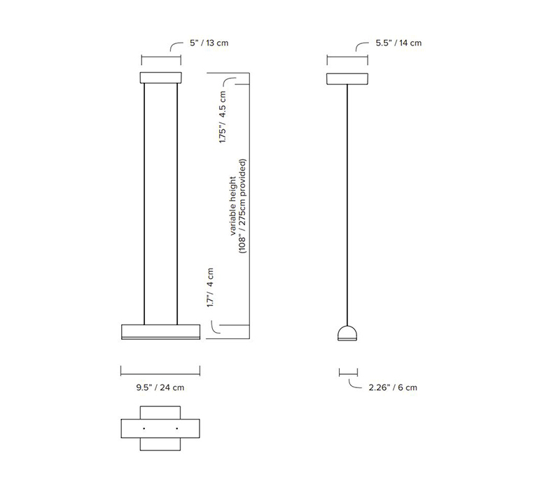 Hutchison 01 studio lambert fils suspension pendant light  lambert fils hut01bgwhwhwlph  design signed nedgis 121479 product