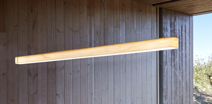 Suspension i line blanc ivoire noir led 3000k 1434lm l120cm h5cm lzf normal
