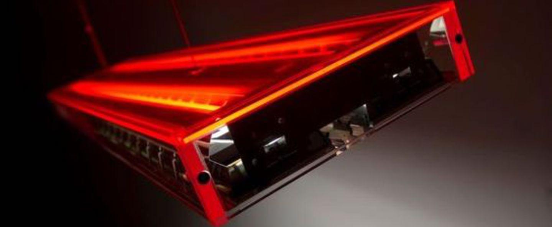 Suspension ice rouge o120cm h6 2cm dark normal