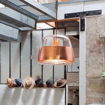 pendant light ice tech copper 32cm hind rabii nedgis lighting. Black Bedroom Furniture Sets. Home Design Ideas