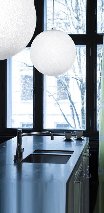 Suspension iceglobe blanc brillant o45cm lumen center italia normal