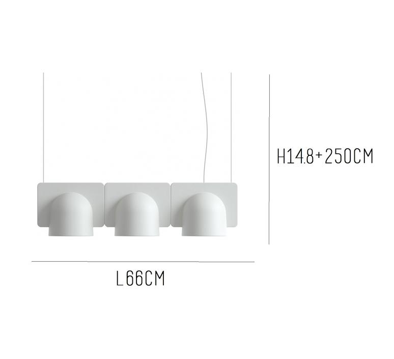 Igloo 3 studio klass fontanaarte 4268gcled3down luminaire lighting design signed 28664 product