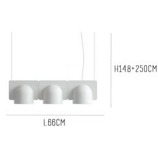 Igloo 3 studio klass fontanaarte 4268gcled3down luminaire lighting design signed 28664 thumb