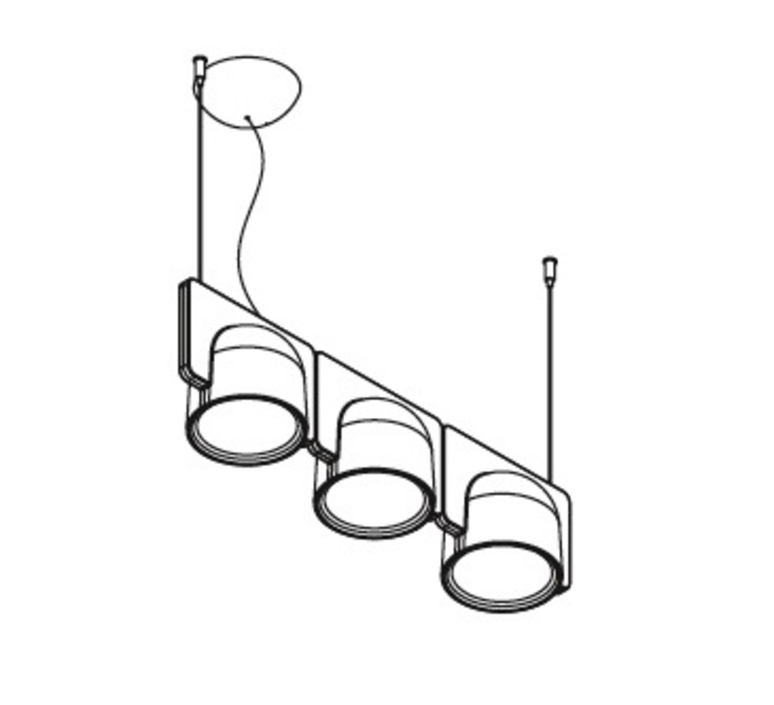 Igloo 3 studio klass fontanaarte 4268gcled3down luminaire lighting design signed 28665 product