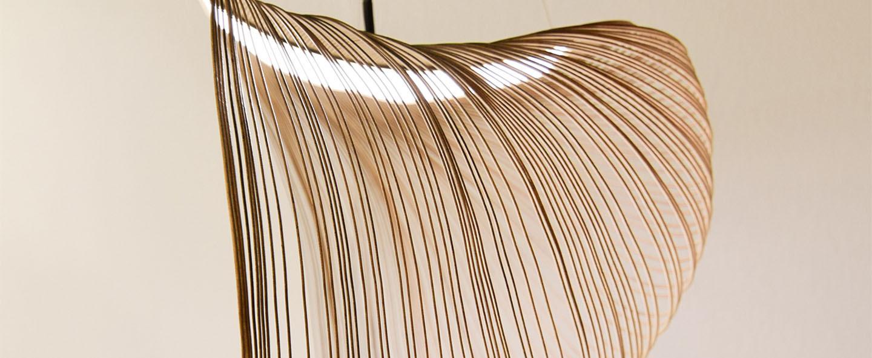 Suspension illan 80 dimmable coupure de phase bouleau led 2700k lm o80cm h80cm luceplan normal