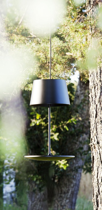 Suspension illusion noir h72cm l45 5cm northern lighting normal
