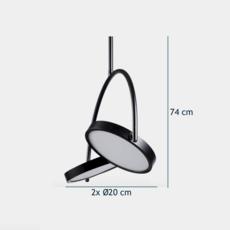 In circles  suspension pendant light  bolia 20 115 01  design signed 39422 thumb