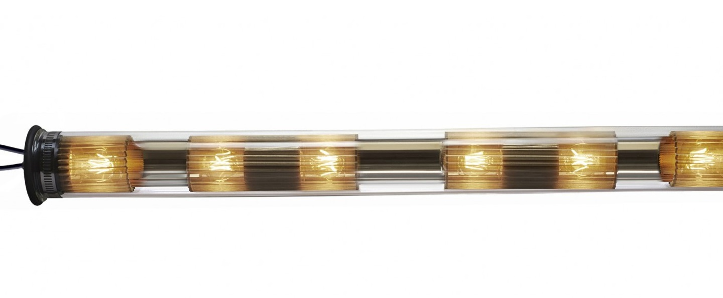 Suspension in the tube 120 1300 doree maille doree o14cm p132cm dcw editions normal