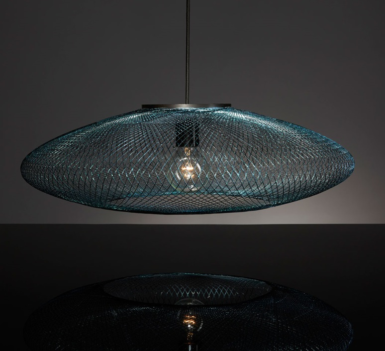 Iridescent black large  suspension pendant light  atelier robotiq iridescentblack large  design signed 43034 product